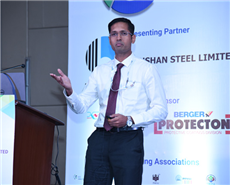 Commander Adil Mohideen, Joint Director, Naval Architecture, Indian Navy at Corrosion Technology Forum 2018.