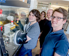 Research team from Bochum (from left): Thorsten Scherpf, Viktoria Däschlein-Gessner, Lennart Scharf and Christopher Schwarz.