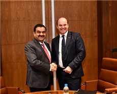 Dr. Martin Brudermüller, Chairman of the Board of Executive Directors, BASF SE (right) and Gautam Adani, Chairman of the Adani Group.