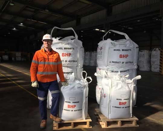 BHP start nickel sulfate production EVs in second-quarter 2020
