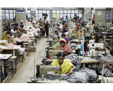 People working in textile factory in the Mohakhali area of Dhaka, Bangladesh.