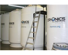 The girl is now preserved in one of these containers in the Cryonics Institute in Michigan, US. © Cryonics Institute