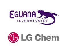 Eguana and  LG Chem logo