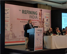 Dr Werner Reimann, global marketing manager, Clariant Refinery Services, talking about Processing Waxy Opportunity Crudes at 5th Refining India Conference in Delhi, India.