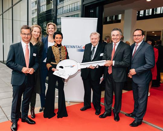 Brenntag holds key handover ceremony new headquarters in Essen