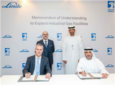 Signing ceremony between ADNOC-Linde.