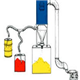 Vacuum Dilute Stage Pneumatic Conveying System
