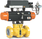 PFA/FEP Lined Ball Valve