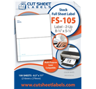 Half Sheet Shipping Labels FS-105