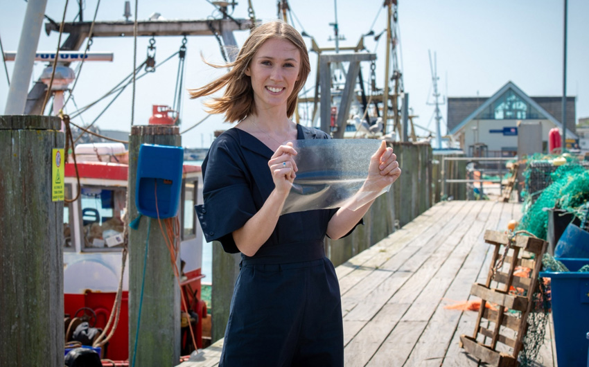 UK student creates biodegradable plastic out of fish waste