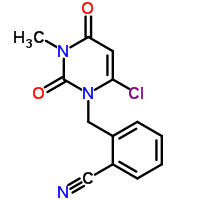 2-[(6-Chloro-3,4-dihydro-3-methyl-2,4-dioxo-1(2H)-pyrimidinyl)methyl]benzonitrile-Product_Struture