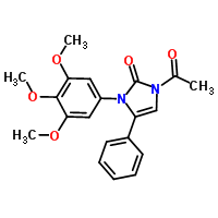 1-acetyl-1,3-dihydro-3-(3,4,5-trimethoxyphenyl)-4-phenyl-2H-imidazol-2-one-Molecule Struture