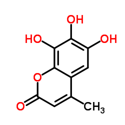 2H-1-Benzopyran-2-One, 6,7,8-Trihydroxy-4-Methyl--Product_Struture