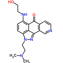 2-(2-Dimethylamino-ethyl)-5-(2-hydroxy-ethylamino)-2H-1,2,9-triaza-aceanthrylen-6-one-Molecule Struture
